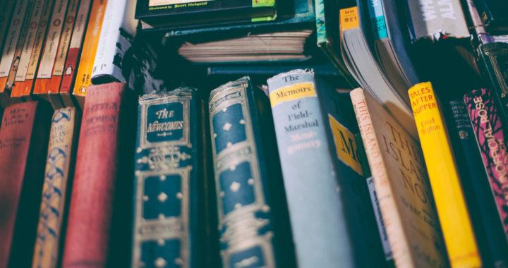 Books in a pile