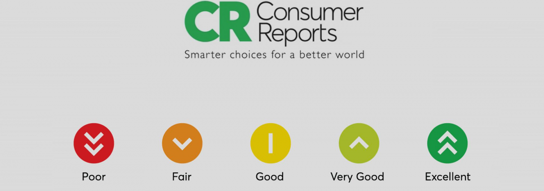 Consumer Reports logo with rating system below.