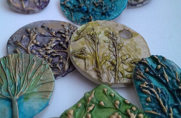 Pendants made out of polymer clay