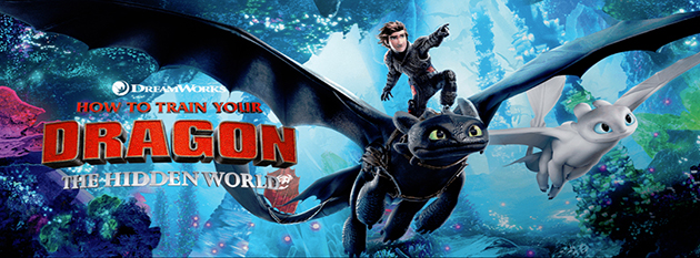 Movie poster for 'How to Train Your Dragon 3'