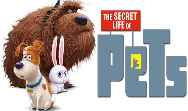 2 dogs and a bunny on a white background with the movies logo