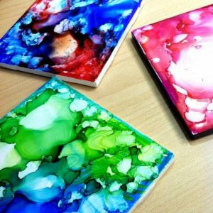 Teen DIY - Alcohol Ink Coasters @ Washington District Library - Main Library