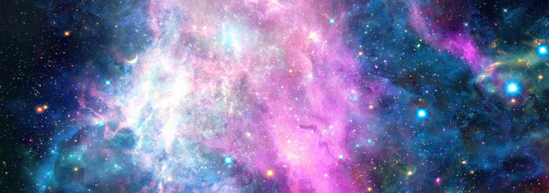 Pink, blue, and purple galaxy swirl