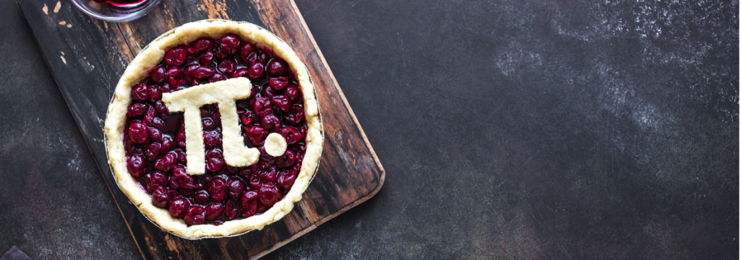 Cherry pie with the pi symbol on top