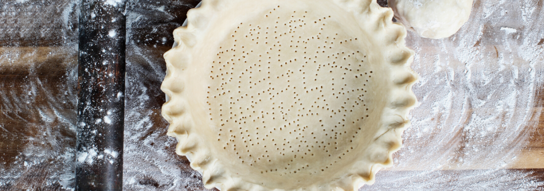 Pie crust on a flour covered table