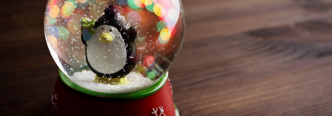Snow globe with penguin inside