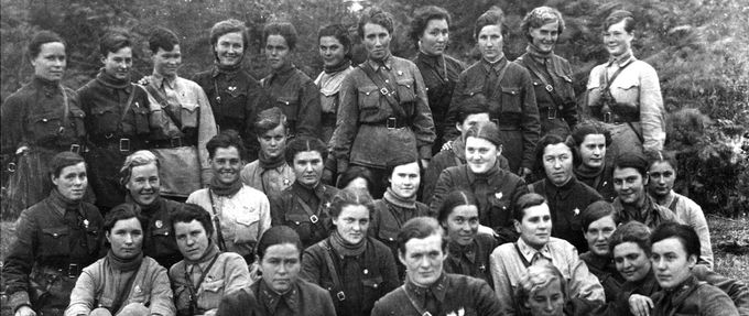 Group photo of the Soviet Night Witches