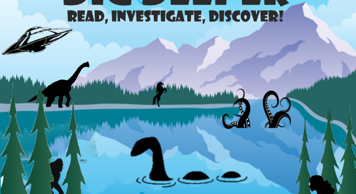 Summer Reading 2020 poster - Dig Deeper: Read, Investigate, Discover