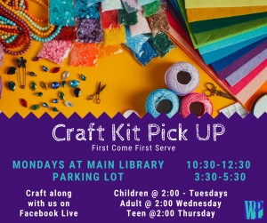 Summer Reading Craft Kit Pick Up @ Washington District Library