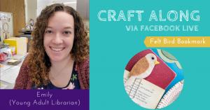 Craft Along - Felt Bird Bookmark @ Facebook Live