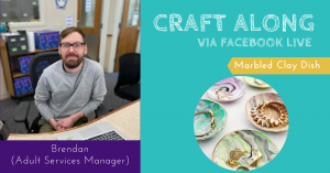 Craft Along - Marbled Clay Dish @ Facebook LIVE