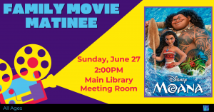 Family Movie Matinee @ Washington District Library - Main Library