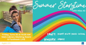 Summer Storytime- Yellow @ Washington District Library- Main Library & Facebook Live