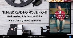 Summer Reading Movie Night @ Washington District Library - Main Library
