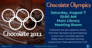 Chocolate Olympics @ Washington District Library- Main Library