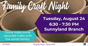 Family Craft Night @ Washington District Library- Sunnyland Branch