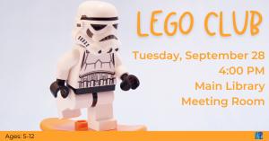 Lego Club @ Washington District Library- Main Library