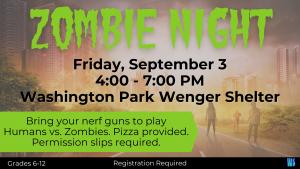 Zombie Night @ Washington Park - Wenger Shelter