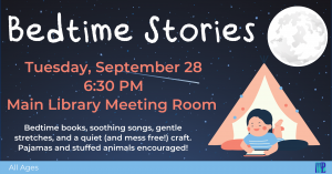 Bedtime Stories @ Washington District Library- Main Library
