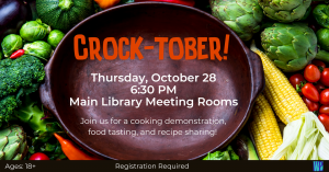 Which Craft? Crock-tober! Soups @ Washington District Library