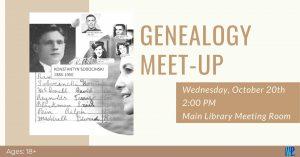 Genealogy Meetup @ Washington District Library - Main