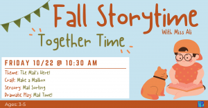 Fall Storytime: Together Time @ Washington District Library- Main Library