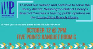 Public Forum @ Five Points Washington, Banquet Room C